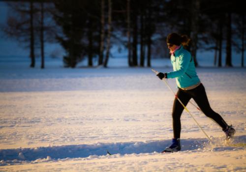 club de ski de fond - stock